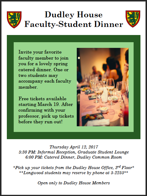 Student Faculty Dinner