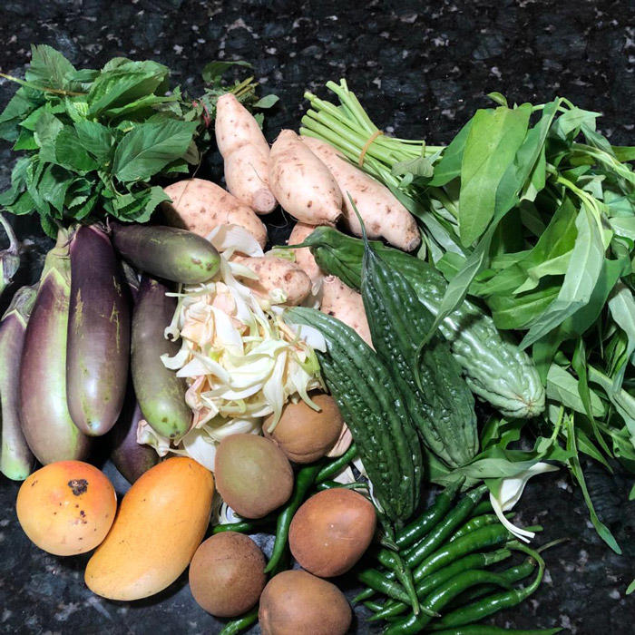 Image of a bunch of vegetables from Guam