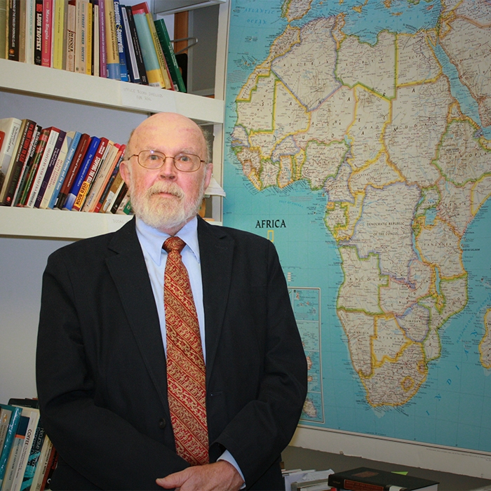 Image of Robert Bates in his office