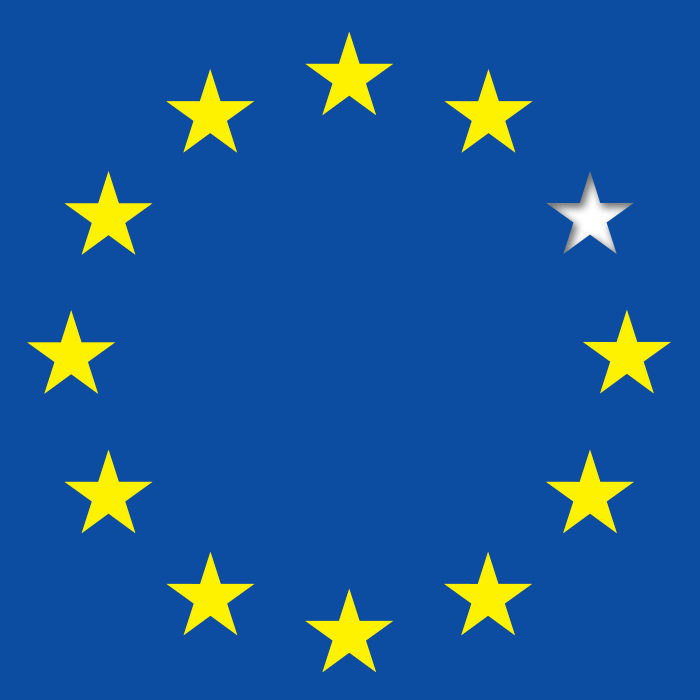 EU flag missing one star