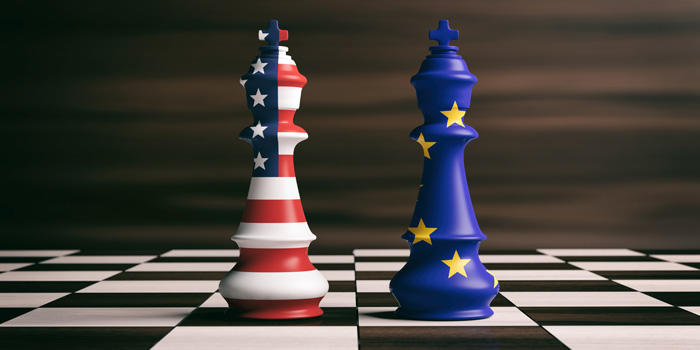 Image of US and EU chess pieces on a board