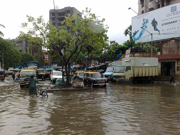 Image of monsoon flooding in Mumbai