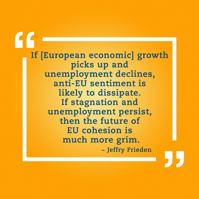 Quotation from Jeffry Frieden on European economy