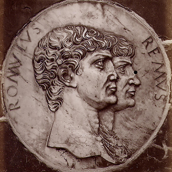 Image of Romulus and Remus on a coin