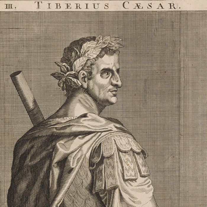 Drawing of Tiberius