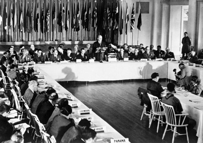 Image of first Bretton Woods conference in 1944
