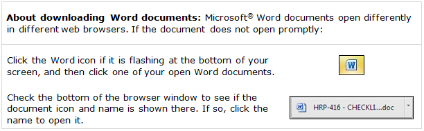 Quick tip about downloading Word documents
