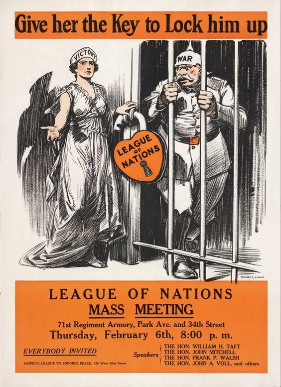 League of Nations poster