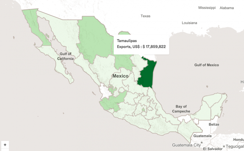 Mexico Atlas - Washing Machines Exports