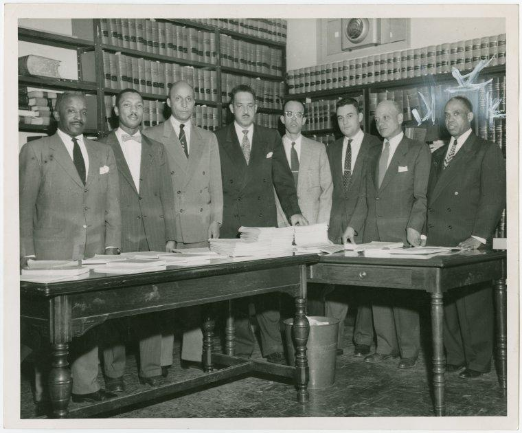 Image of Thurgood Marshall and Legal Defense Team