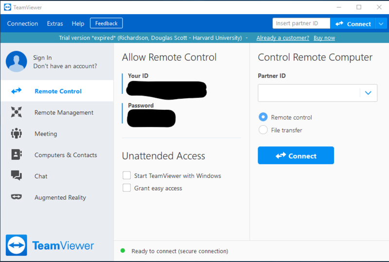 TeamViewer Connection