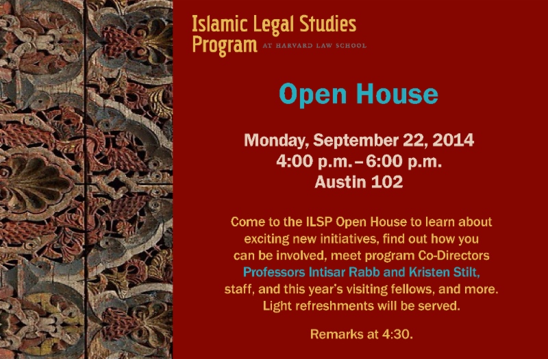 Islamic Legal Studies Program Open House