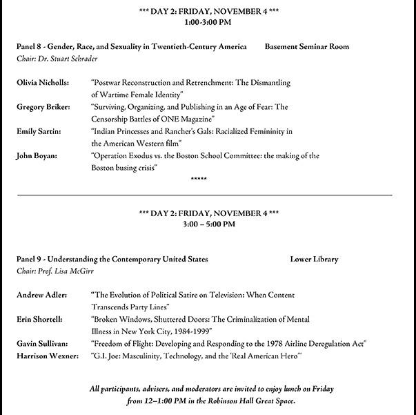 Harvard history thesis