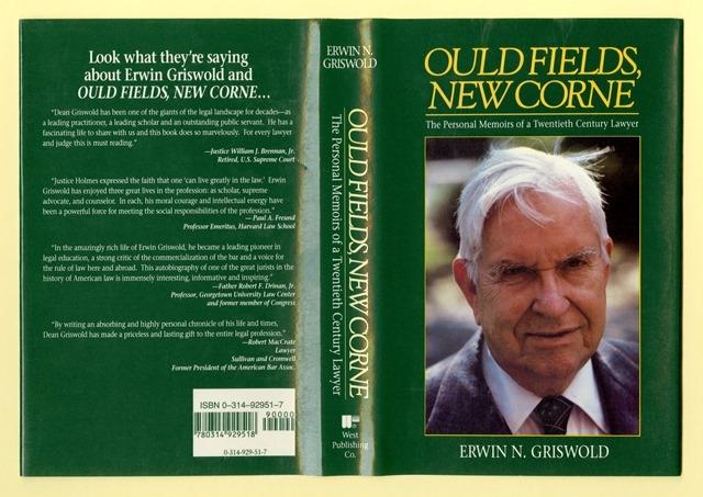 Bookjacket of Griswold's memoir