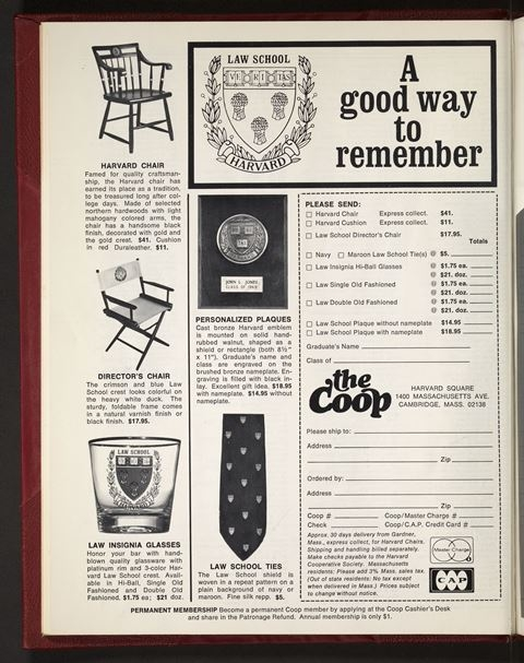 Full page add of HLS memorabilia offered by the Coop