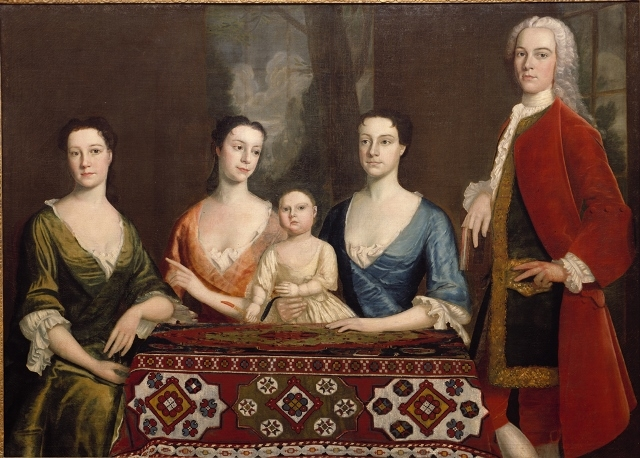 Isaac Royall and family color portrait