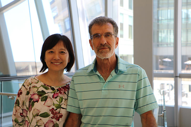 Portrait of Li Chai and Dan Tenen at CLS Boston
