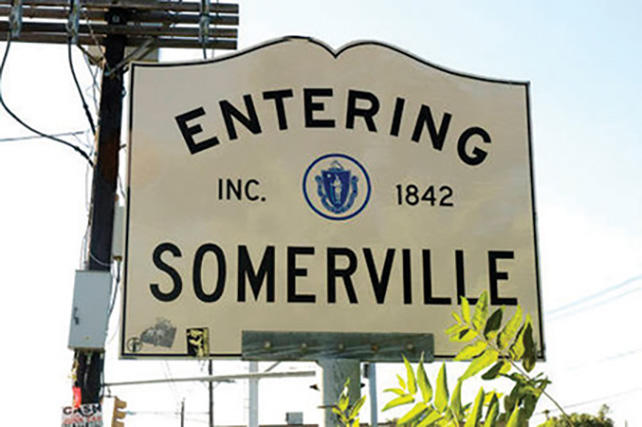 Sign that says entering Somerville Inc. 1842