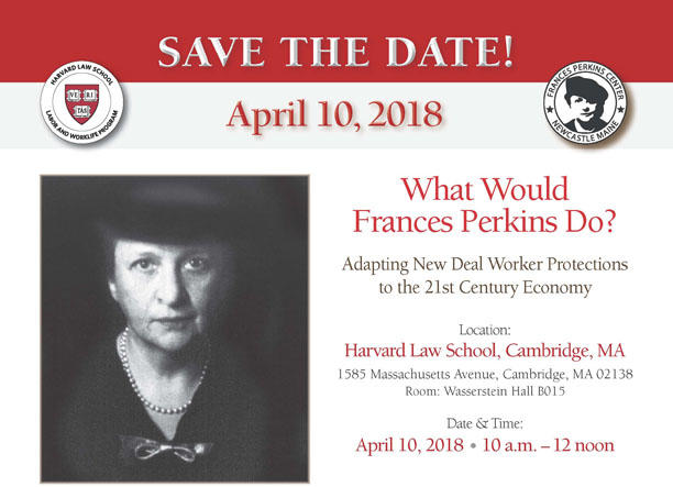 Francis Perkins Event Flyer