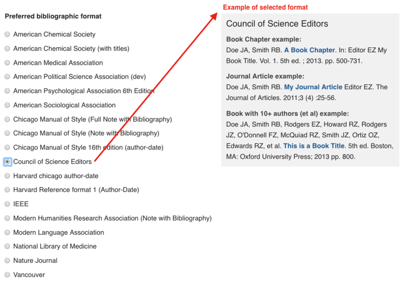 Publications settings openscholar documentation example of publication types available ccuart Image collections