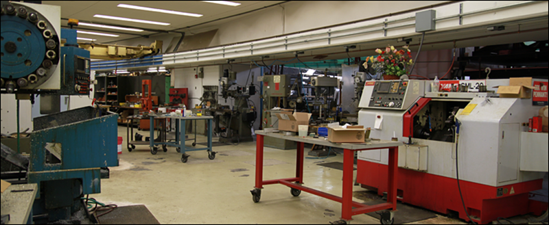 View of the fabrication machine shop