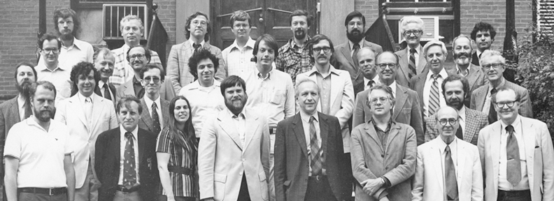 Harvard Physics faculty in 1980 - group picture
