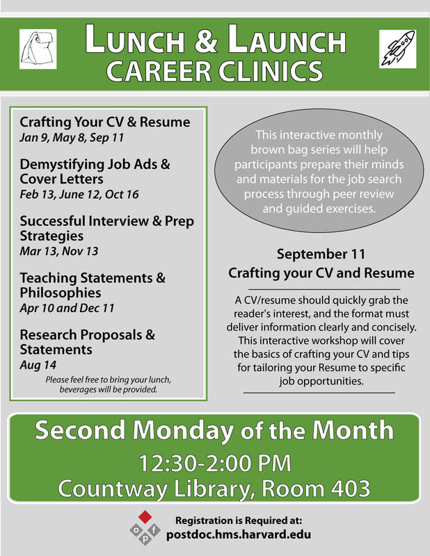 Lunch Launch Career Clinics Crafting Your CV And Resume HMS