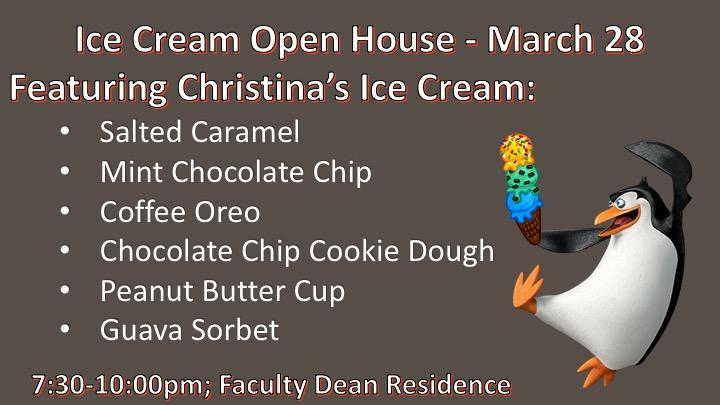 Ice Cream Open House