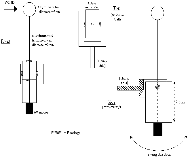 technical drawings of spinning axis assembly