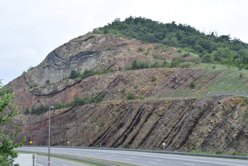 Famous Sideling Hill outcrop that encompasses the Devonian-Carboniferous boundary.