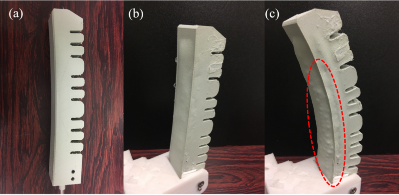 3D printing soft finger stiffened by passive particle jamming.