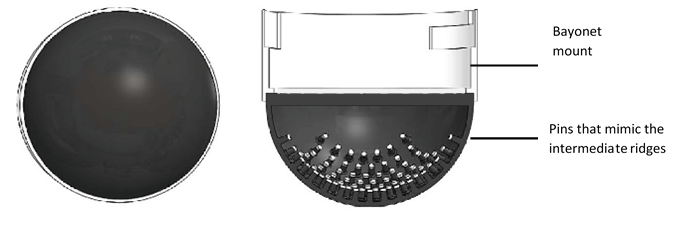 Sectional view of tactip