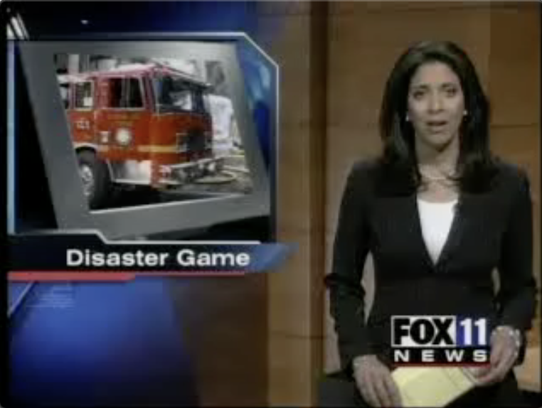 Disaster rescue on Channel 11 news:Our research on disaster response multiagent simulations