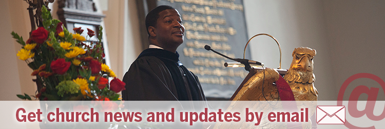 Get church news and updates by email