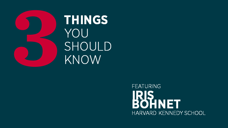 Three Things You Should Know with Iris Bohnet