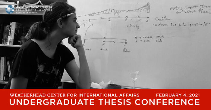 Event graphic with photo of Raphaelle Soffe looking at her white board filled with notes on theory