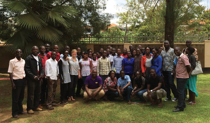 Image of Pia Raffler and field team at IPA Uganda