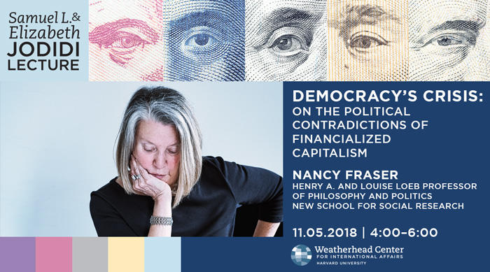 Graphic for Jodidi Lecture with Nancy Fraser