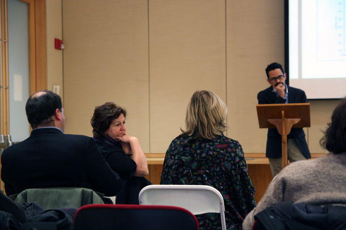 Image of Sunil Amrith and Michele Lamont at Director's Lunch Seminar