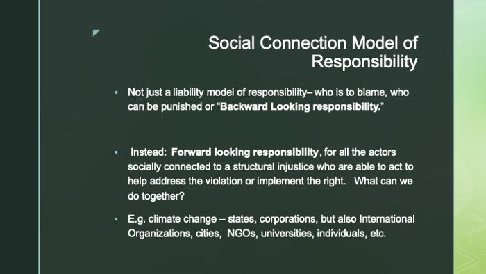 Slide of social connection model of responsibility