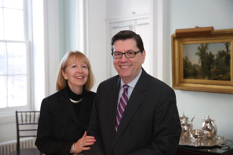 Picture of Faculty Deans, Mark Gearan and Mary Gearan