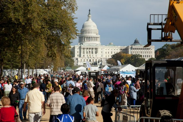 Picture of a festival on the National Mall