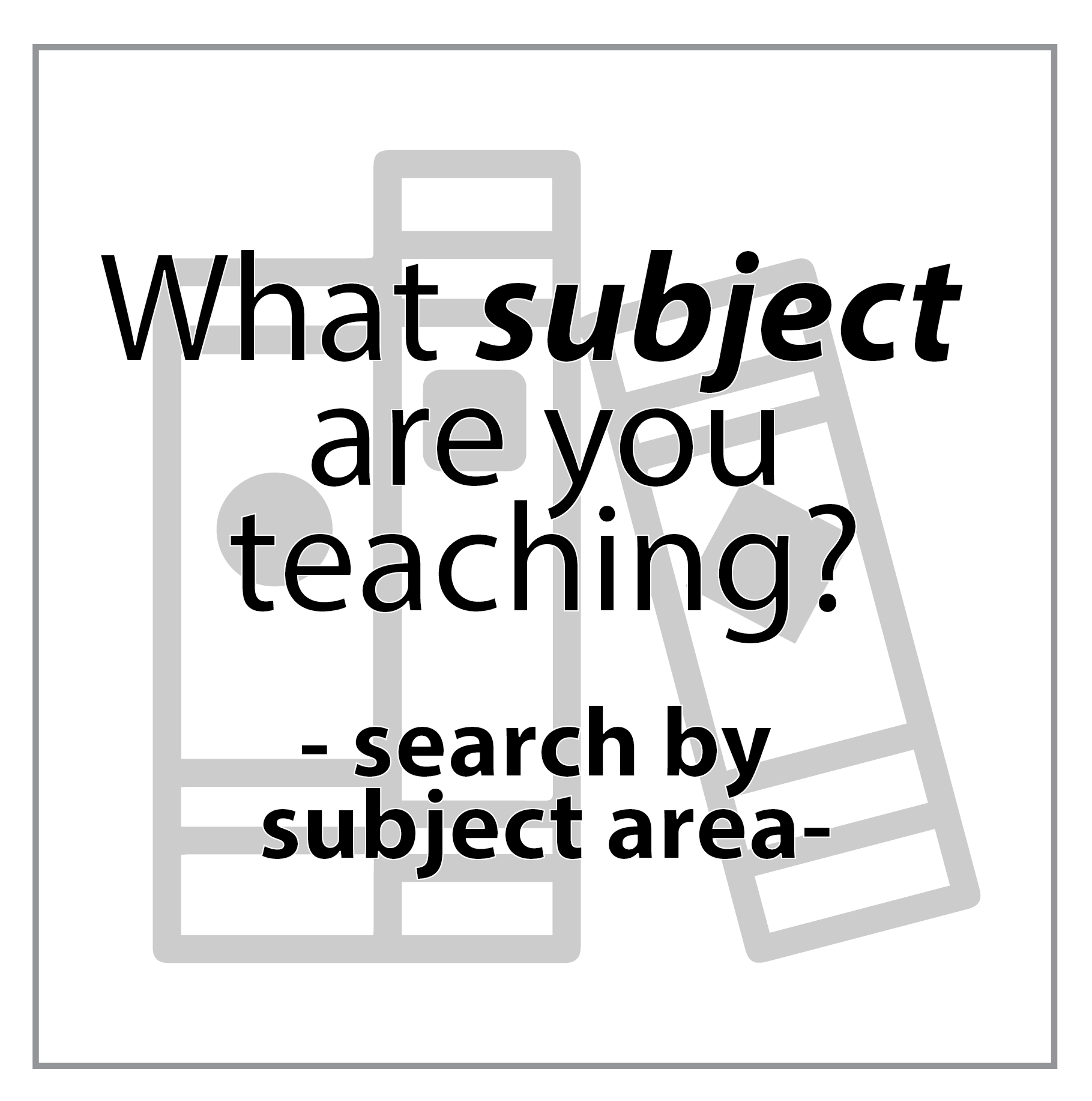 Search by subject area
