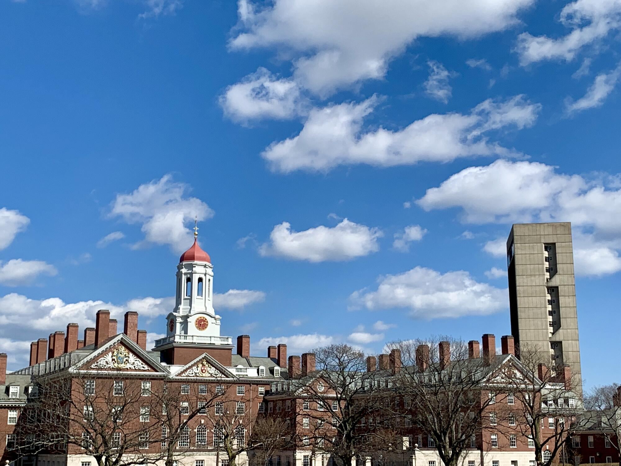Building at Harvard on a sunny day.