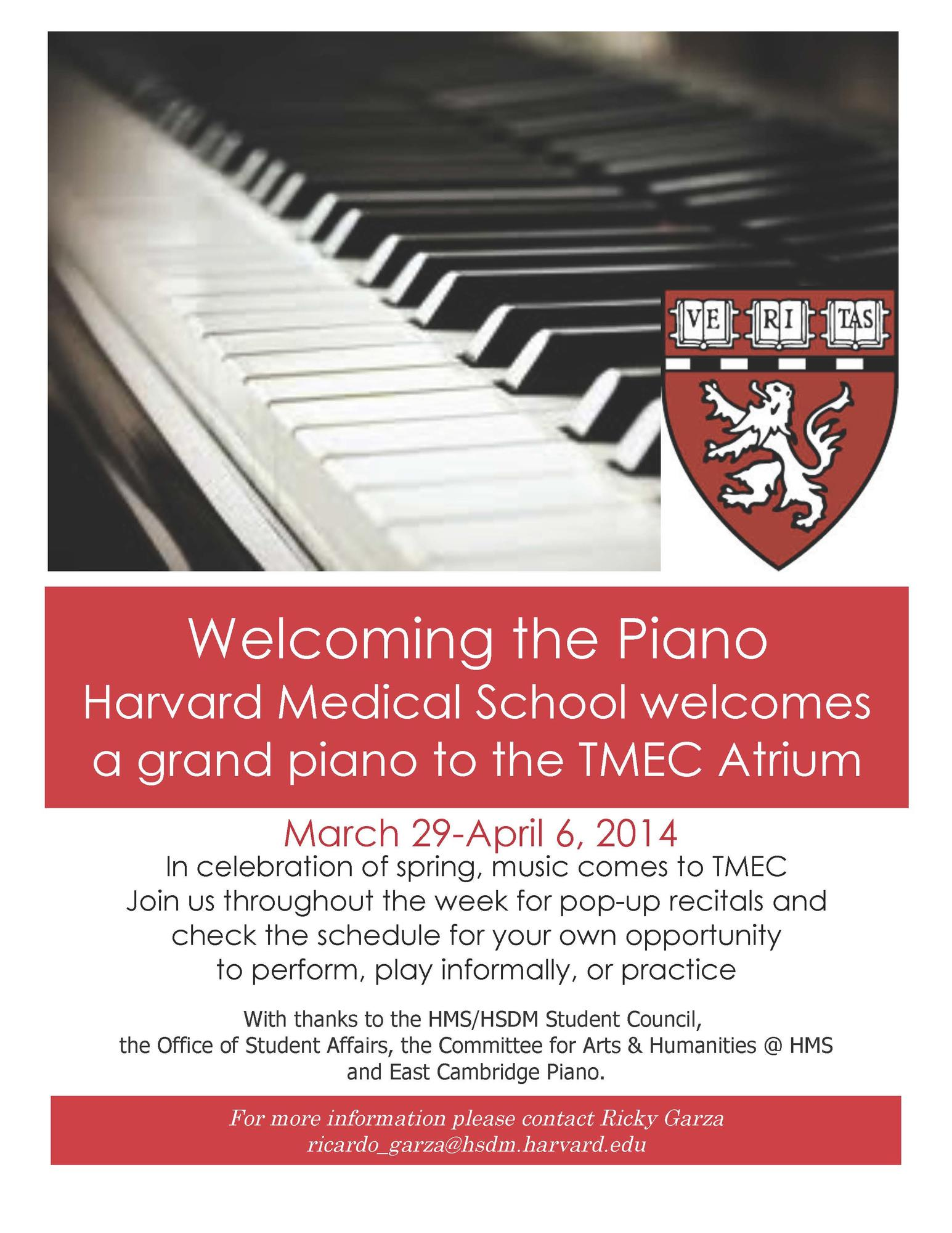 HMS Piano Welcome Poster