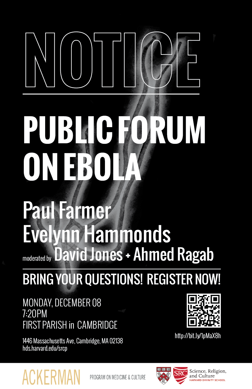 Public Forum on Ebola poster