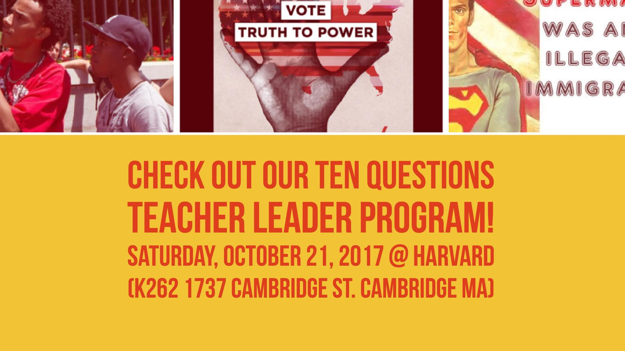 Teacher Leader Meeting on Saturday, Oct 21 2017