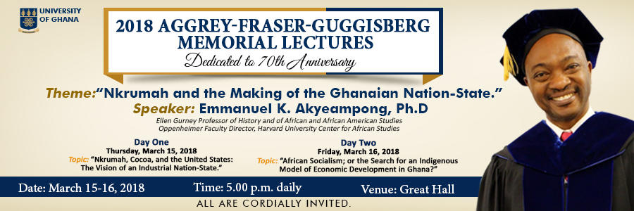 University of Ghana Banner Image for Memorial Lecture and Professor Akyeampong