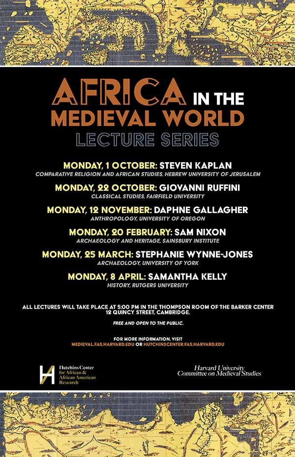 Poster for Africa in the Medieval world Lecture