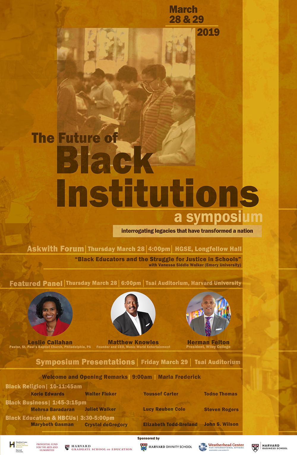 Black Institutions Symposium Poster